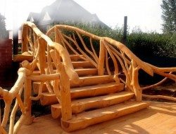 If you're a fan of whole tree architecture, then this staircase is for you!
