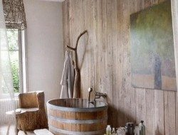 Wooden Bathtub