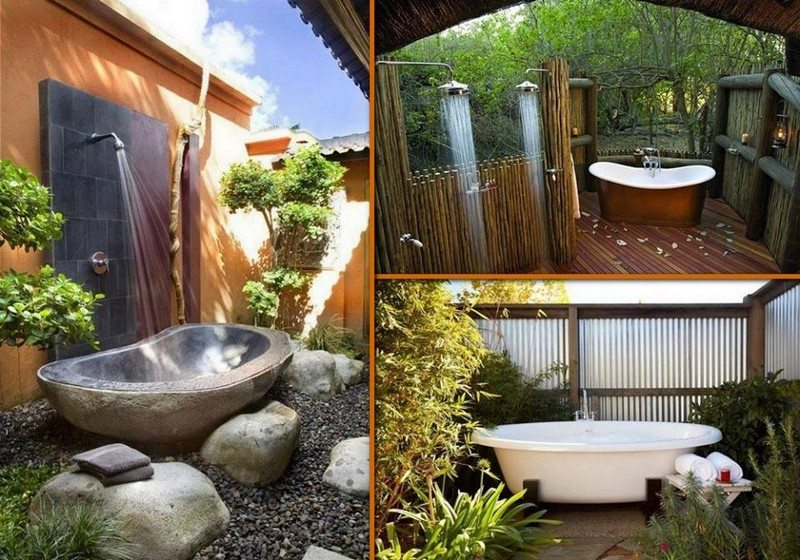 There's something wonderfully decadent about bathing outdoors. Have you thought about building an outdoor shower or bathroom?