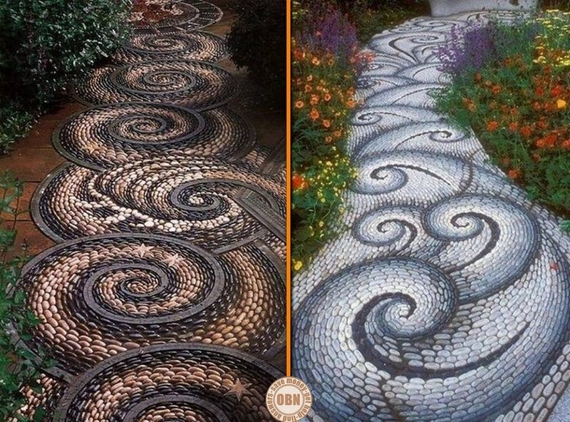 Here are two lovely examples of garden paths (mosaic of course). All it takes is time and imagination. Would you like one in your garden?