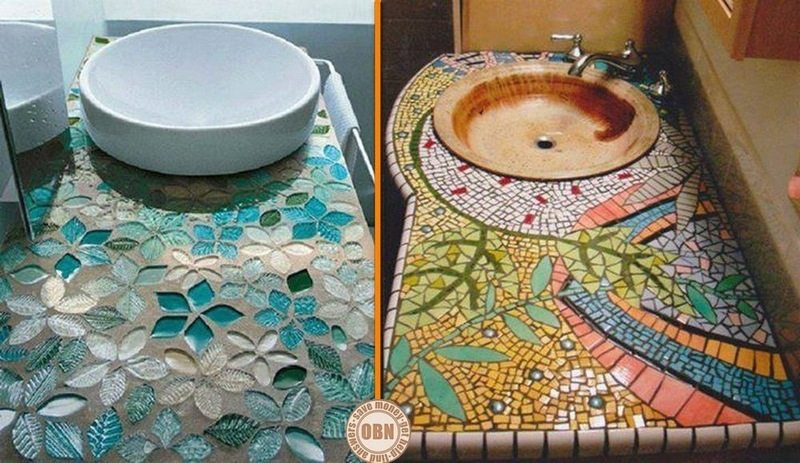 Are you a fan of mosaic sinks?