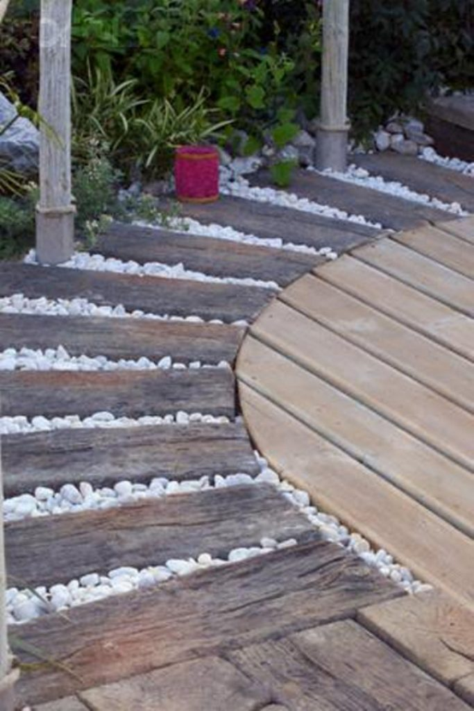 Beautiful diy garden paths and inspiration diy garden paths for Adoquines para jardin