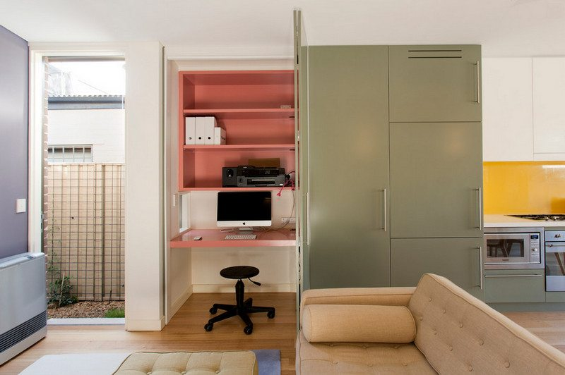 Compact home, compact, hide-way office - by Danny Broe Architects - Sydney