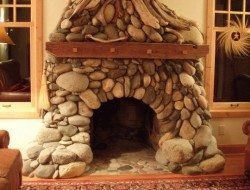 Driftwood and stone
