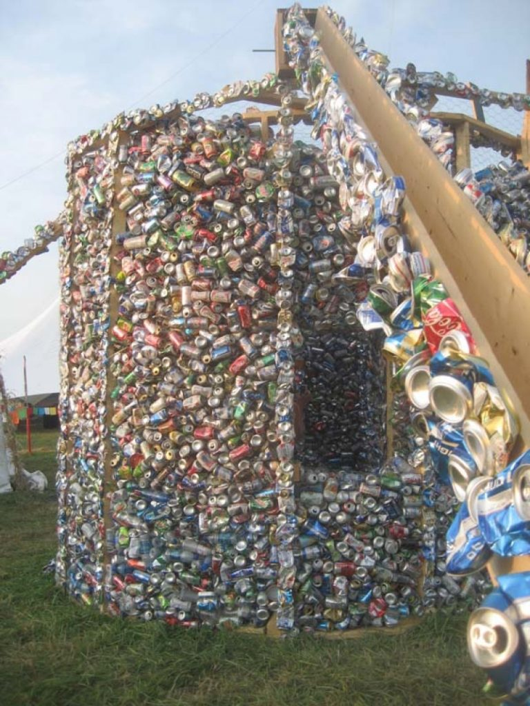 A house built from 40,000 cans