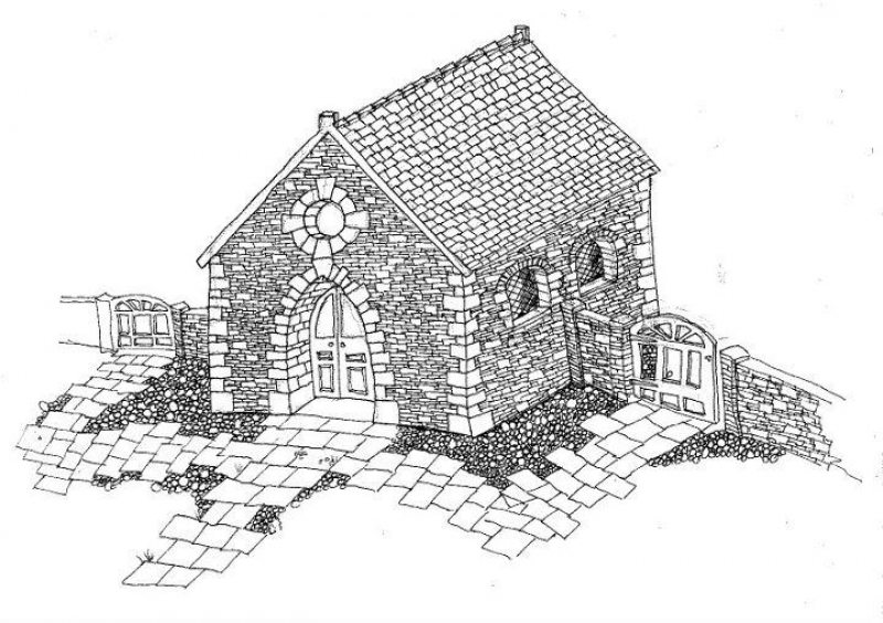 Plan for a chapel in Italy