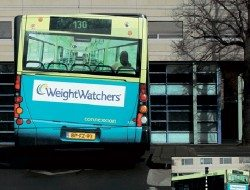 Weightwatcher bus - Here just because it's clever!  Look very carefully to understand the full illusion.  Can you really see into the bus?