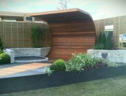 The completed gold award winning show garden