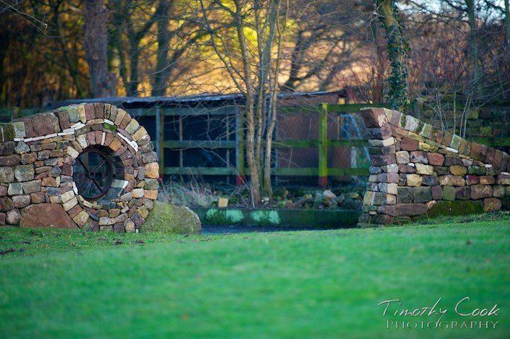 Spiral drystone sculpture
