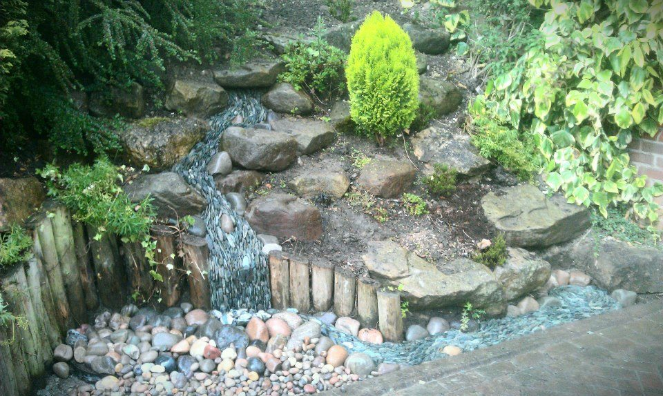 A fast flowing river of slate