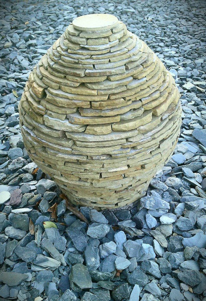 Drystone sculpture 'the seed'