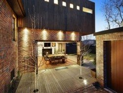 some nice timber and brickwork to show off your alfresco dining area,