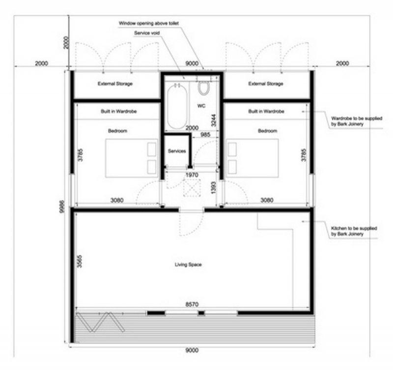 Garden Home by in.it.studios - Floor plan