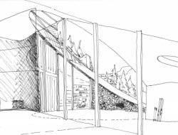 Villa Vals - concept sketch