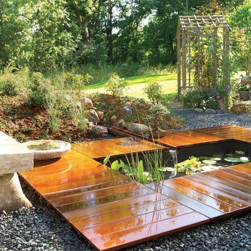 Thinking outside the square :) An excellent use of decking!