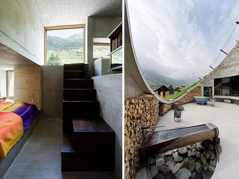 Underground living in switzerland the owner builder network for Quirky house designs