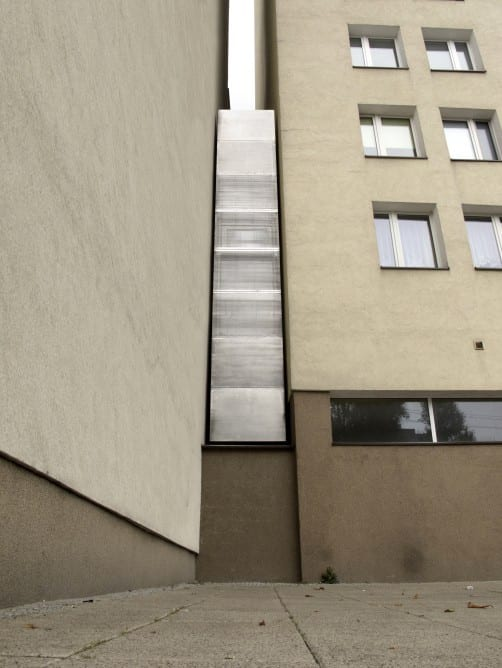 The exterior facade