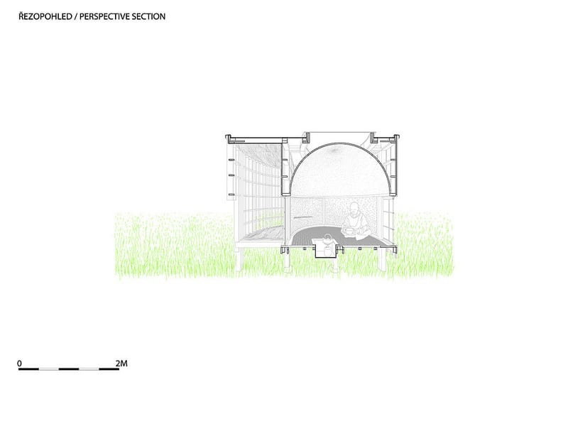 The Tea House - Section Perspective