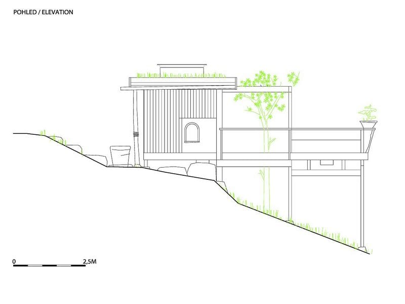 Tea House Hanging Garden - Elevation 1