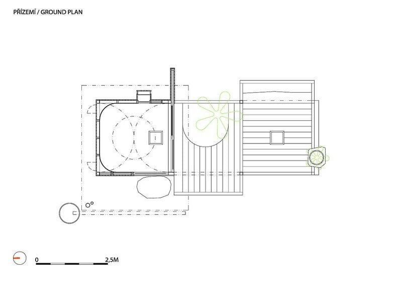 Tea House Hanging Garden - Floor Plan