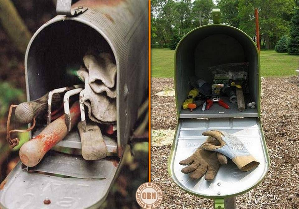 You've got mail! Here's an idea for keeping gardening tools right where you need them.