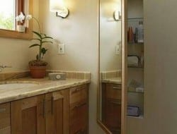Do you need more storage in the bathroom, but don't have the space? Then this idea might help.