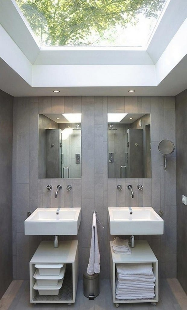 Personally I don't particularly like this bathroom, but I love the skylight!
