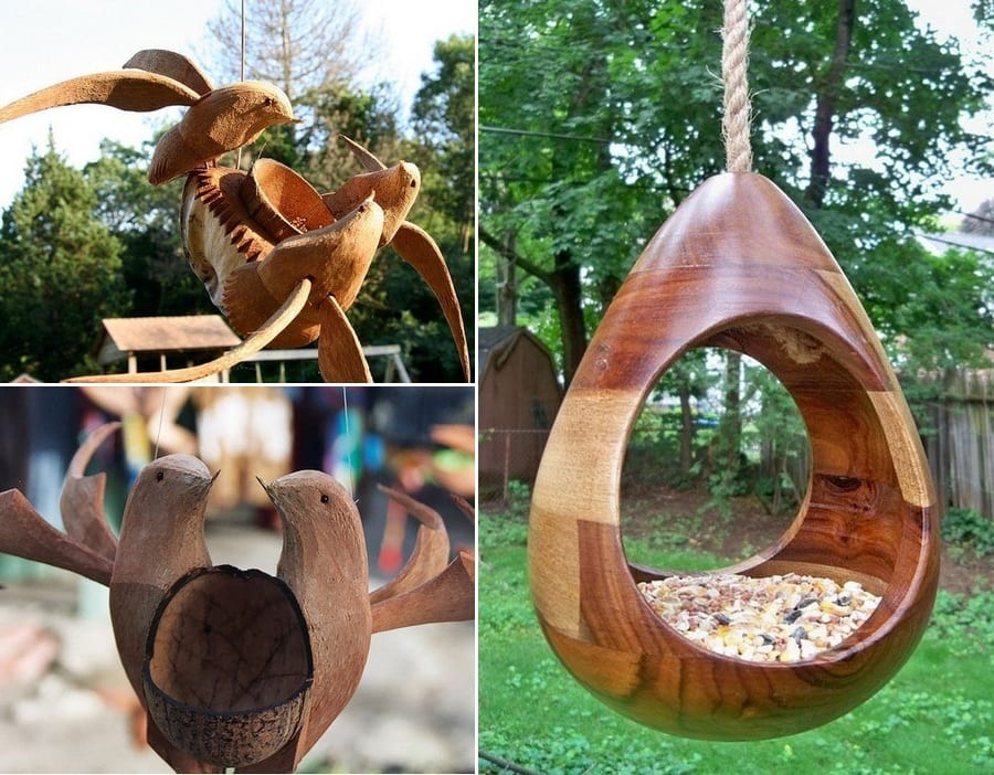 What do you think of these hand carved bird feeders?