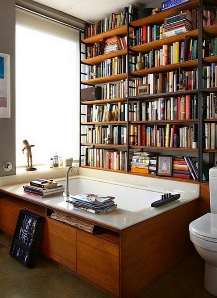 With three kids, I can't even use the toilet in peace, let alone lay back in the bath and read a book, but obviously at least one person in the world has this luxury.  What are your thoughts? Would you if you could?