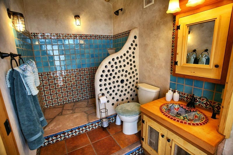 This is a real love it or hate it bathroom. What do you think?