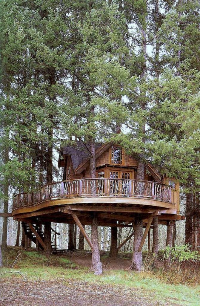 This is certainly in a whole different league to the rough and ready tree houses we built as kids!