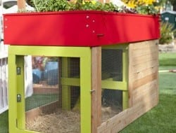 I always appreciate things that have more than one function.  This guinea pig/rabbit hutch is a good example. An instant raised garden bed, that can be moved around the yard as required and underneath a safe space for your small animals to dwell.  Pretty clever, don't you think?
