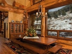 Amazing Log Home - Dining Room