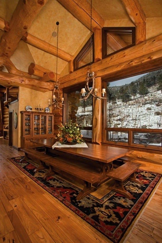 Amazing Log Home - Dining Room