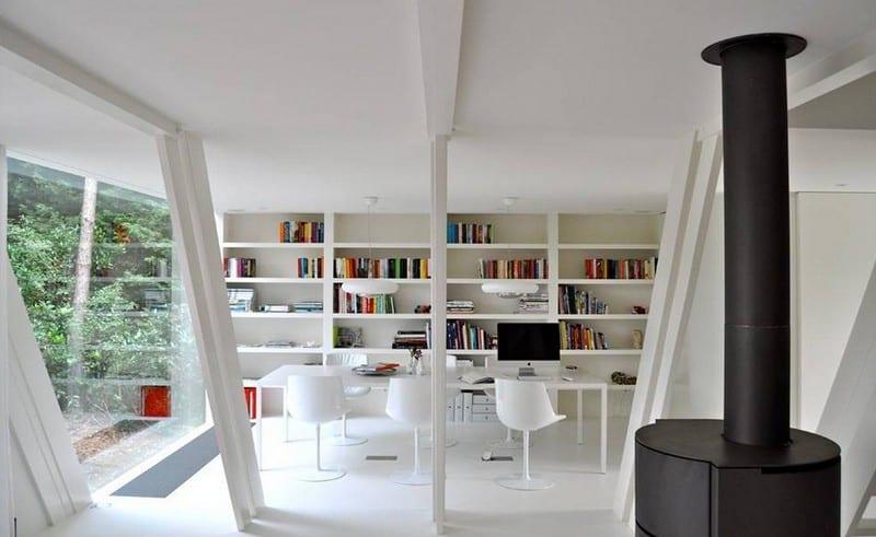 A-Frame - Brecht, Belgium - library/living