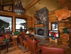 Amazing Log Home - Family Room