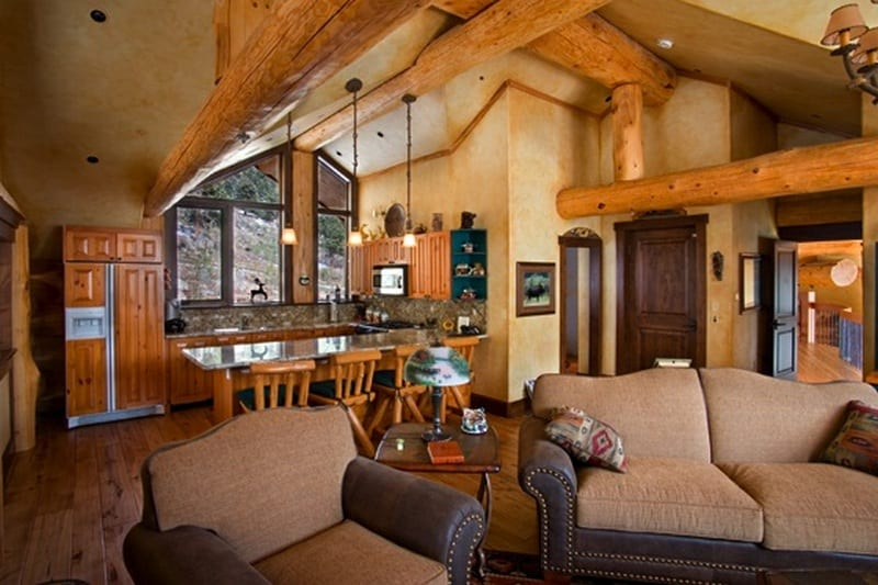 Amazing Log Home - The Casual Kitchen