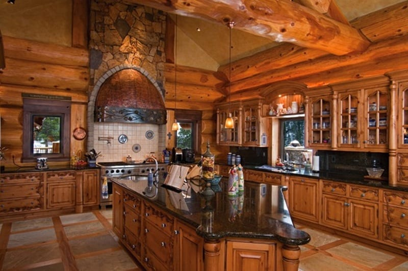 Amazing Log Home - The Real Kitchen