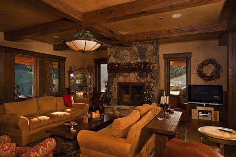 Life on a grand scale the owner builder network for Log living room