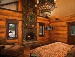 Amazing Log Home - Master Bed