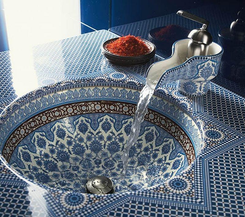 Moroccan Ceramic Basin