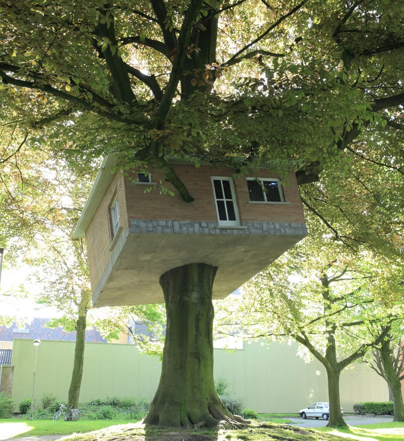 Senior Center Turned Treehouse by Benjamin Verdonck - http://track.be/en/index.php/kunstenaars/detail/benjam_verdonck
