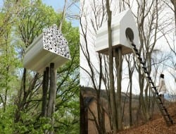 Tree House Bird-Apartment by Nendo - http://www.nendo.jp/en/works/detail.php?y=2012&t=292