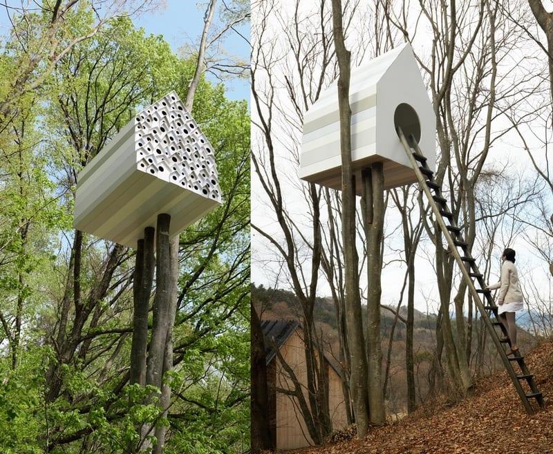 Tree House Bird-Apartment by Nendo - http://www.nendo.jp/en/works/detail.php?y=2012&t=292