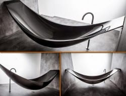 This is the carbon fibre Hammock Bath by Splinter.