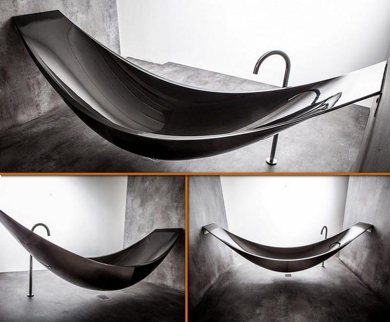 This is the carbon fibre Hammock Bath by Splinter.