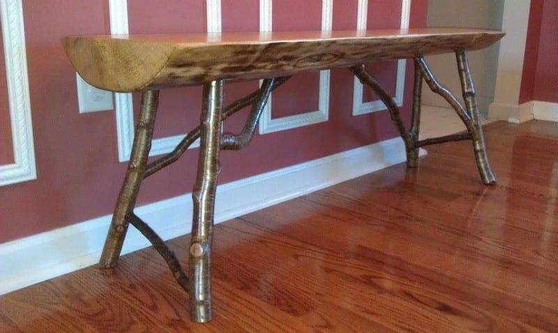This beautiful table was made by Shane Lewis from #OrganicDesignsVermont.