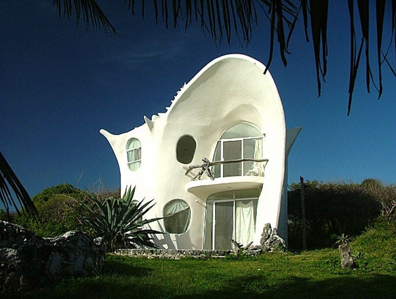 Conch shell house unusual house conch shell house - Difference shell house turnkey ...