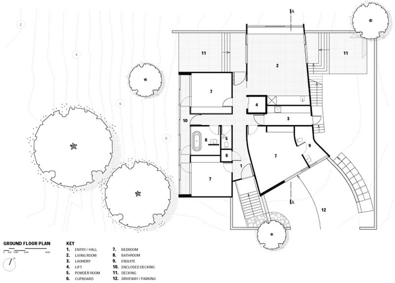 Port Fairy House  - Ground Level Floor Plan