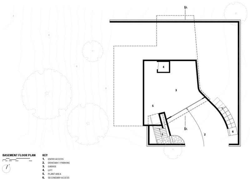 Port Fairy House - Basement Floor Plan